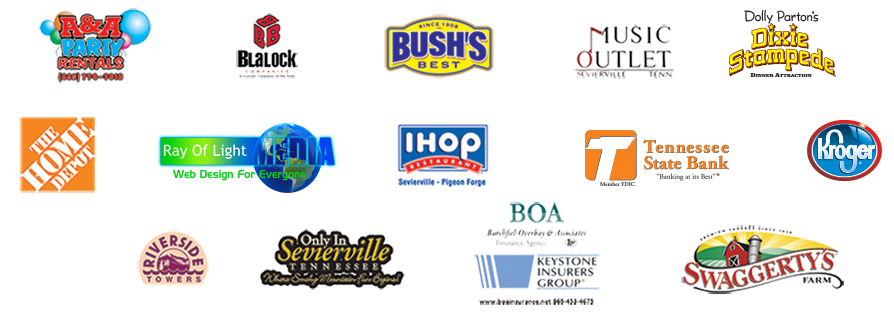 Robert A. Tino's Smoky Mountain Homecoming sponsors